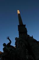 Bernini's Four River Fountain on Piazza Navona. La fontana dei quattro fiumi a Piazza Navona