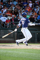 Lewis Brinson - Texas Rangers 2016 spring training (Bill Mitchell)