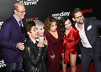 "07 February 2019 - Los Angeles, California - STEPHEN TOBOLOWSKY, MARCEL RUIZ, RITA MORENO, JUSTINA MACHADO, RITA MORENO, JUSTINA MACHADO, ISABELLA GOMEZ and TODD GEINNELL. Netflix's ""One Day at a Time"" Season 3 Premiere and Global Launch held at Regal Cinemas L.A. LIVE 14. Photo Credit: Billy Bennight/AdMedia"