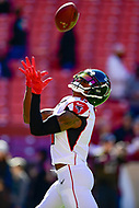 Landover, MD - November 4, 2018: Atlanta Falcons wide receiver Julio Jones (11) warms up before the game between the Atlanta Falcons and the Washington Redskins at FedEx Field in Landover, MD. (Photo by Phillip Peters/Media Images International)
