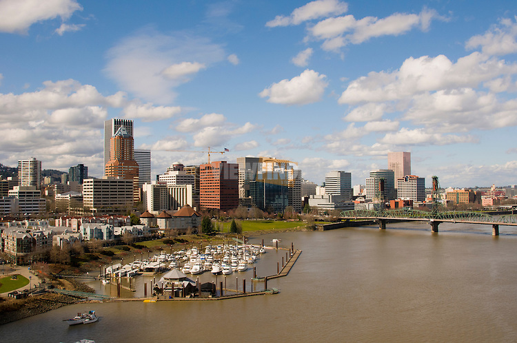 Portland, Oregon on the Willamette River