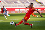Yu Dabao of China shoots to score his team's second goal during the AFC Asian Cup UAE 2019 Group C match between China (CHN) and Kyrgyz Republic (KGZ) at Khalifa Bin Zayed Stadium on 07 January 2019 in Al Ain, United Arab Emirates. Photo by Marcio Rodrigo Machado / Power Sport Images