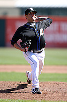 April 19, 2010:  Pitcher Travis Blackley of the Buffalo Bisons delivers a pitch during a game at Coca-Cola Field in Buffalo, New York.  The Bisons are the Triple-A International League affiliate of the New York Mets.  Photo By Mike Janes/Four Seam Images