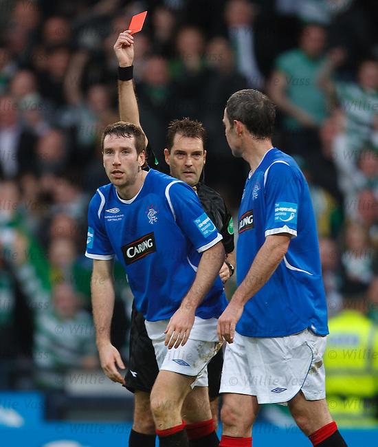 Kirk Broadfoot send off by Dougie McDonald