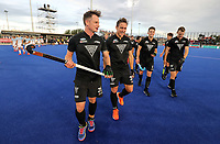 Balcksticks thank fans (Shae McAlesse and Dwayne Rowsell) during the Pro League Hockey match between the Blacksticks men and the Argentina, Nga Punawai, Christchurch, New Zealand, Friday 28 February 2020. Photo: Simon Watts/www.bwmedia.co.nz