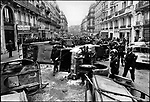 Rue Gay Lussac the morning after student riots, Paris, France, May 11, 1968