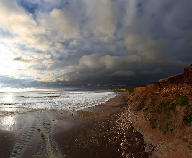 Storm approaching Compton Bay