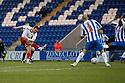 Chris Beardsley of Stevenage scores their second goal. - Colchester United v Stevenage - Weston Homes Community Stadium, Colchester - 26th December 2011  .© Kevin Coleman 2011