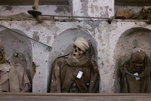 Palerme, Sicile, Italie, Oct 2015. Catacombes.