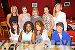 Staff from Boots Pharmacy enjoying a night out at Restaurant Uno's on Thursday Night. Pictured Front l-r Niamh O'Leary, Florence Preko, Lorna McMahon, Orla Quirke.  Back l-r Jackie Murphy, Katie O'Sullivan, Shauna McKeever, Kaz Oxtoby, Veronica O'Brien