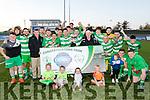 Killarney Celtic celebrate winning the Denny sponsored Premier A league final replay last Friday night at Mounthawk park, Tralee beating Castleisland 1-0.