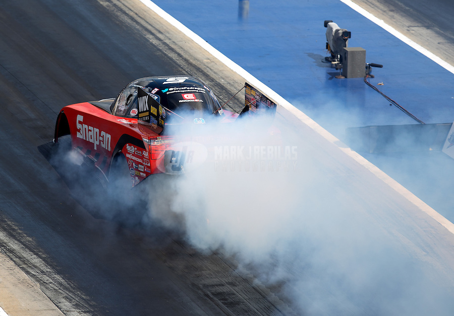 Sep 17, 2016; Concord, NC, USA; NHRA funny car driver Cruz Pedregon during qualifying for the Carolina Nationals at zMax Dragway. Mandatory Credit: Mark J. Rebilas-USA TODAY Sports