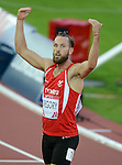 Wales Ben Gregory in action during tonights race<br /> <br /> Photographer Ian Cook/Sportingwales<br /> <br /> 20th Commonwealth Games - Athletics  -  Day 5 - Monday 28th July 2014 - Glasgow - UK
