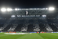 Juventus fans cheer on ahead the Uefa Champions League 2018/2019 round of 16 second leg football match between Juventus and Atletico Madrid at Juventus stadium, Turin, March, 12, 2019 <br />  Foto Andrea Staccioli / Insidefoto
