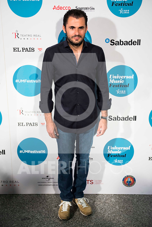 Emiliano Suarez attends to the photocall of the Rod Stewart concert at Teatro Real in Madrid. July 05. 2016. (ALTERPHOTOS/Borja B.Hojas)