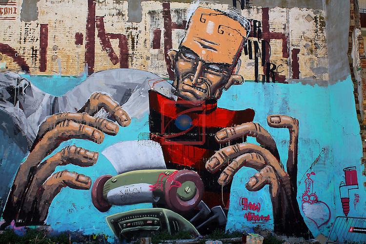 Street Art-Graffittis.<br /> Barcelona, carrer Venezuela.