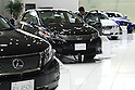 July 7, 2010 - Tokyo, Japan - Lexus vehicules are pictured at the Toyota Mega Web in Odaiba, Tokyo, Japan, on July 7, 2010. Japanese auto giant Toyota Motor has started the recall of almost 92,000 Lexus in Japan and expects to recall 270,000 Lexus and Crown sedans worldwide in order to fix an engine problem.