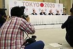(L to R) Toshiro Muto, Yoshiro Mori . Tsunekazu Takeda, Hakubun Shimomura, Mitsunori Torihara, JANUARY 24, 2014 : Tokyo Organising Committeee of the Olympic and Paralympic Games member attend press conference in Tokyo, Japan. The Tokyo Organising Committee of the Olympic and Paralympic Games (Tokyo 2020) was formally established today and will be headed by former Prime Minister of japan Yoshiro Mori.  Photo by Yusuke Nakansihi/AFLO SPORT) [1090]