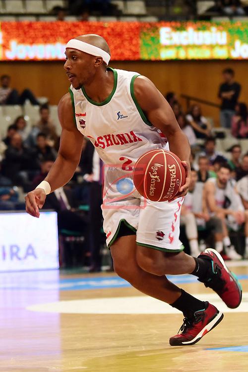 League ACB-ENDESA 2016/2017. Game: 5.<br /> Divina Seguros Joventut vs Baskonia: 83-90.<br /> Josh Akognon,