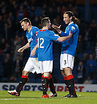 Bilel Mohsni celebrates his goal with Fraser Aird