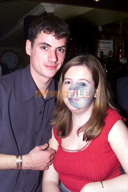 Brian Roe, Ardee and Cora Weldon, Collon enjoying a night out in Muldoons..Picture Paul Mohan Newsfile