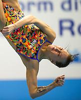 Nadezhda Bazhina RUS<br /> 3m Springboard Women preliminary<br /> Day 06 14/06/2015  <br /> 2015 Arena European Diving Championships<br /> Neptun Schwimmhalle<br /> Rostock Germany 09-14 June 2015 <br /> Photo Giorgio Perottino/Deepbluemedia/Insidefoto