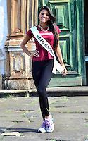 OURO PRETO, MG, 20.09.2013 - MISS BRASIL 2013 - Miss Mato Grosso, Jakelyne Silva candidata a Miss Brasil 2013 durante visita a cidade historica de Ouro Preto a 100 km de Belo Horizonte. (Foto: Eduardo Tropia / Brazil Photo Press)