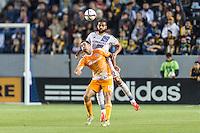CARSON, CA - May 22, 2015: The LA Galaxy vs Houston Dynamo match at the StubHub Center in Carson, California. Final score, LA Galaxy 1, Houston Dynamo 0.
