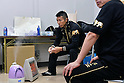 Takashi Uchiyama (JPN), DECEMBER 31, 2011 - Boxing : Takashi Uchiyama of Japan prepares in the dressing room before the WBA super featherweight title bout at Yokohama Cultural Gymnasium in Kanagawa, Japan. (Photo by Hiroaki Yamaguchi/AFLO)