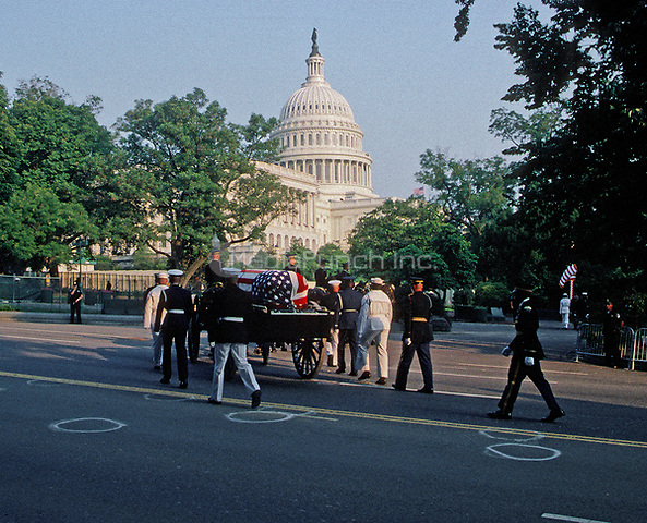 Washington DC., USA, June 10, 2004<br /> State funeral for President Ronald Reagan. Credit: Mark Reinstein/MediaPunch