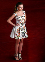 "L'attrice, cantante e modella statunitense Scarlett Johansson posa sul red carpet per la presentazione del film ""Her"" all'ottava edizione del Festival Internazionale del Film di Roma, 10 novembre 2013.<br /> U.S. actress, singer and model Scarlett Johansson poses on the red carpet to present the movie ""Her"" during the 8th edition of the international Rome Film Festival at Rome's Auditorium, 10 November 2013.<br /> UPDATE IMAGES PRESS/Riccardo De Luca"