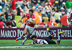 Chinese Taipei play Tunisia on Day 2 of the Cathay Pacific / HSBC Hong Kong Sevens 2013 on 23 March 2013 at Hong Kong Stadium, Hong Kong. Photo by Victor Fraile / The Power of Sport Images