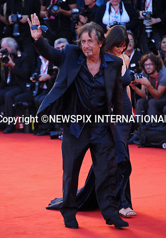 """AL PACINO AND LUCIA SOLA.at the 68th Venice Film Festival,Venice, Italy_04/09/2011.Mandatory Credit Photo: ©Massimo/NEWSPIX INTERNATIONAL..**ALL FEES PAYABLE TO: """"NEWSPIX INTERNATIONAL""""**..IMMEDIATE CONFIRMATION OF USAGE REQUIRED:.Newspix International, 31 Chinnery Hill, Bishop's Stortford, ENGLAND CM23 3PS.Tel:+441279 324672  ; Fax: +441279656877.Mobile:  07775681153.e-mail: info@newspixinternational.co.uk"""