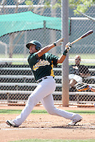 Diomedes Lopez, Oakland Athletics 2010 extended spring training..Photo by:  Bill Mitchell/Four Seam Images.