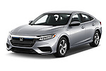2019 Honda Insight EX 4 Door Sedan angular front stock photos of front three quarter view