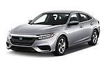 2019 Honda Insight EX 4 Door Sedan angular front stock photos of front three quarter view