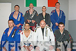 Lightening Fast: Tralee Brazilian Jiu-Jitsiu club members from the Gracie Barra club, located in Boherbue, Tralee for the past 10 yrs, who did very well at the Irish Championships last Sunday in Kilbarrick, North Dublin. Pictured here before their Monday evening training session are front l-r: Mike Clifford (2007 Irish champion), Mikel Kryzi, Mike O'Loughlin and Danny Casey. Back l-r: Tom Patton (instructor), Eamonn Griffin (silver medalist Irish championships 2008 and Munster title holder 2008), Jonathan O'Sullivan (gold medal winner Irish championships 2008) and Francis Galvin (Instructor and current Brazilian Rio De Janeiro State heavyweight champion).   Copyright Kerry's Eye 2008