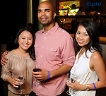 From left: Kim Nguyen, Thomas Shaw and Hanh Langlinais at the Simon Fashion Now event at the Houston Galleria Thursday April 14,2011.(Dave Rossman/For the Chronicle)