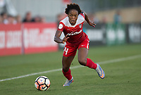 Boyds, MD. - Saturday, June 24 2017:  Francisca Ordega during a regular season National Women's Soccer League (NWSL) match between the Washington Spirit and the Portland Thorns FC at Maureen Hendricks Field, Maryland SoccerPlex. The Washington Spirit defeated Portland Thorns FC 1-0.