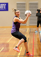 29.08.2017 Silver Ferns Gina Grampton in action during the Silver Ferns training in Auckland. Mandatory Photo Credit ©Michael Bradley.