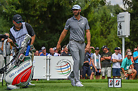 Dustin Johnson (USA) heads down 4 during 1st round of the World Golf Championships - Bridgestone Invitational, at the Firestone Country Club, Akron, Ohio. 8/2/2018.<br /> Picture: Golffile | Ken Murray<br /> <br /> <br /> All photo usage must carry mandatory copyright credit (&copy; Golffile | Ken Murray)