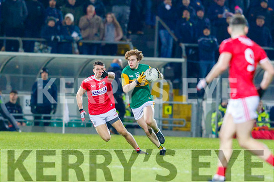 Paul Walsh gets away from Corks Brian Lynch during the Eirgrid Munster Football U20 Final in Tralee last Wednesday March 4.