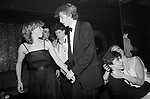 """Chelsea, London. 1982<br />  """"Will you dance?"""" """"Whot me!"""" Teenage Sloane Rangers at Wedgies nightclub in the Kings Road, which was managed by playboy and bon viveur Sir Dai Llewellyn."""