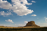 Fajada Butte, site of ancient celestial observatory of the ancestral puebloan people who inhabited Chaco Culture National Historical Park, New Mexico, over 800 years ago.