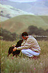 Matt Biondi - Olympic swimmer - hiking with his dog behind his home in Castro Valley, CA, editorial, portrait