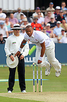 Tymal Mills in bowling action for Essex - Essex CCC vs England - LV Challenge Match at the Essex County Ground, Chelmsford - 30/06/13 - MANDATORY CREDIT: Gavin Ellis/TGSPHOTO - Self billing applies where appropriate - 0845 094 6026 - contact@tgsphoto.co.uk - NO UNPAID USE