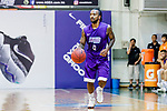 Ewing Richard Scott #0 of HKPA dribbles the ball up court during the Hong Kong Basketball League game between Nam Ching and  HKPA at Southorn Stadium on June 12, 2018 in Hong Kong. Photo by Yu Chun Christopher Wong / Power Sport Images