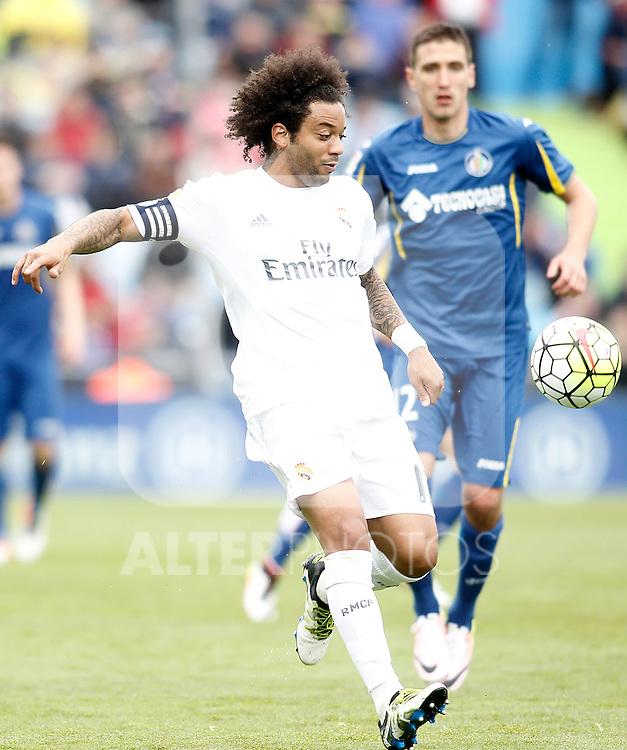 Real Madrid's Marcelo Vieira during La Liga match. April 16,2016. (ALTERPHOTOS/Acero)