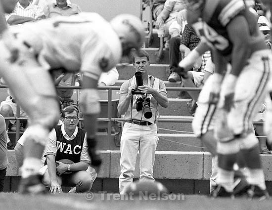 Lynn Johnson at BYU vs. Washington State football.<br />