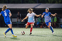 Boston, MA - Friday July 07, 2017: Sofia Huerta and Megan Oyster during a regular season National Women's Soccer League (NWSL) match between the Boston Breakers and the Chicago Red Stars at Jordan Field.